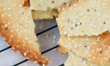 Paleo crackers op basis van kokosmeel