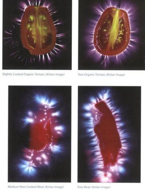 kirlian raw food photography
