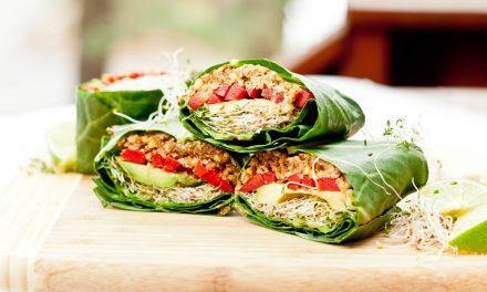 Paleo recept: Groene kool wraps (RAW)
