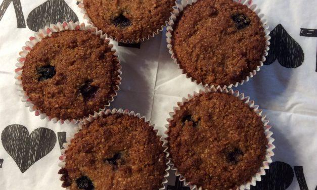 Glutenvrije bosbessen cakejes