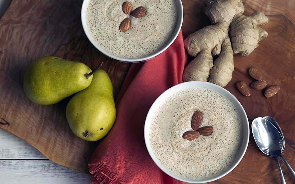 HOT ontbijt smoothie recept: Gember met peer!