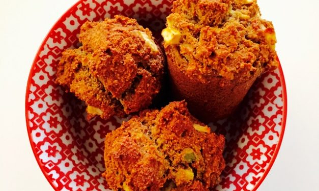Glutenvrije muffin met appel & avocado!