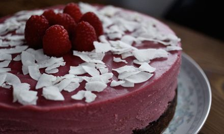 Paleo Cheesecake recept Kokos-Framboos