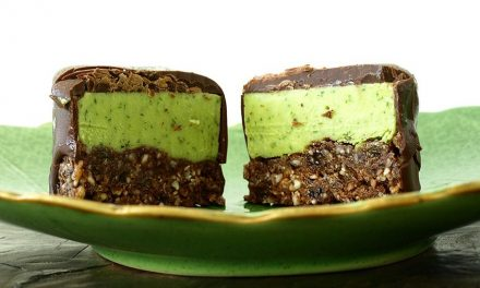 Raw vegan chocolade-munt ijskoekjes