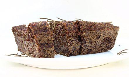 Glutenvrij quinoa brood (vegan!)