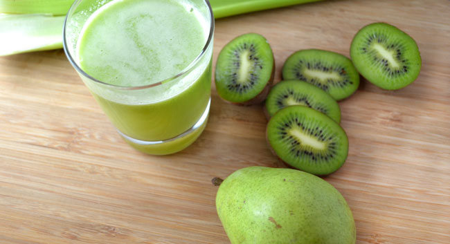 kiwi appel peer juice