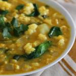 Bloemkool-spinazie-linzen-soep
