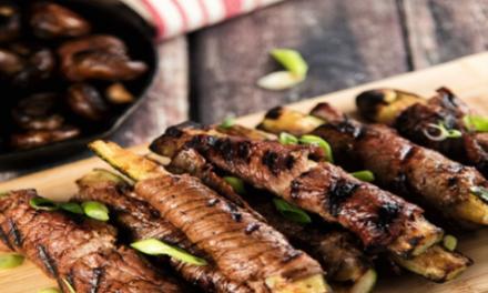 BBQ recept, paleo, kalfsvlees met courgette