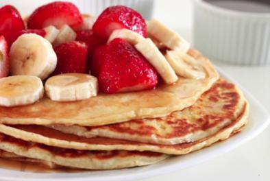 Glutenvrije pannenkoek met fruit
