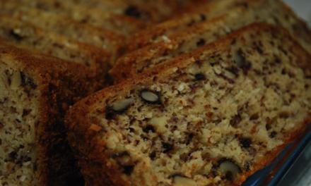 Glutenvrij recept voor cake met banaan en walnoten