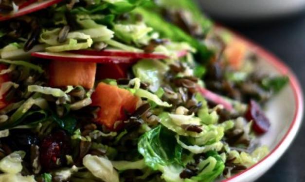 Glutenvrije nazomer salade met spruitjes