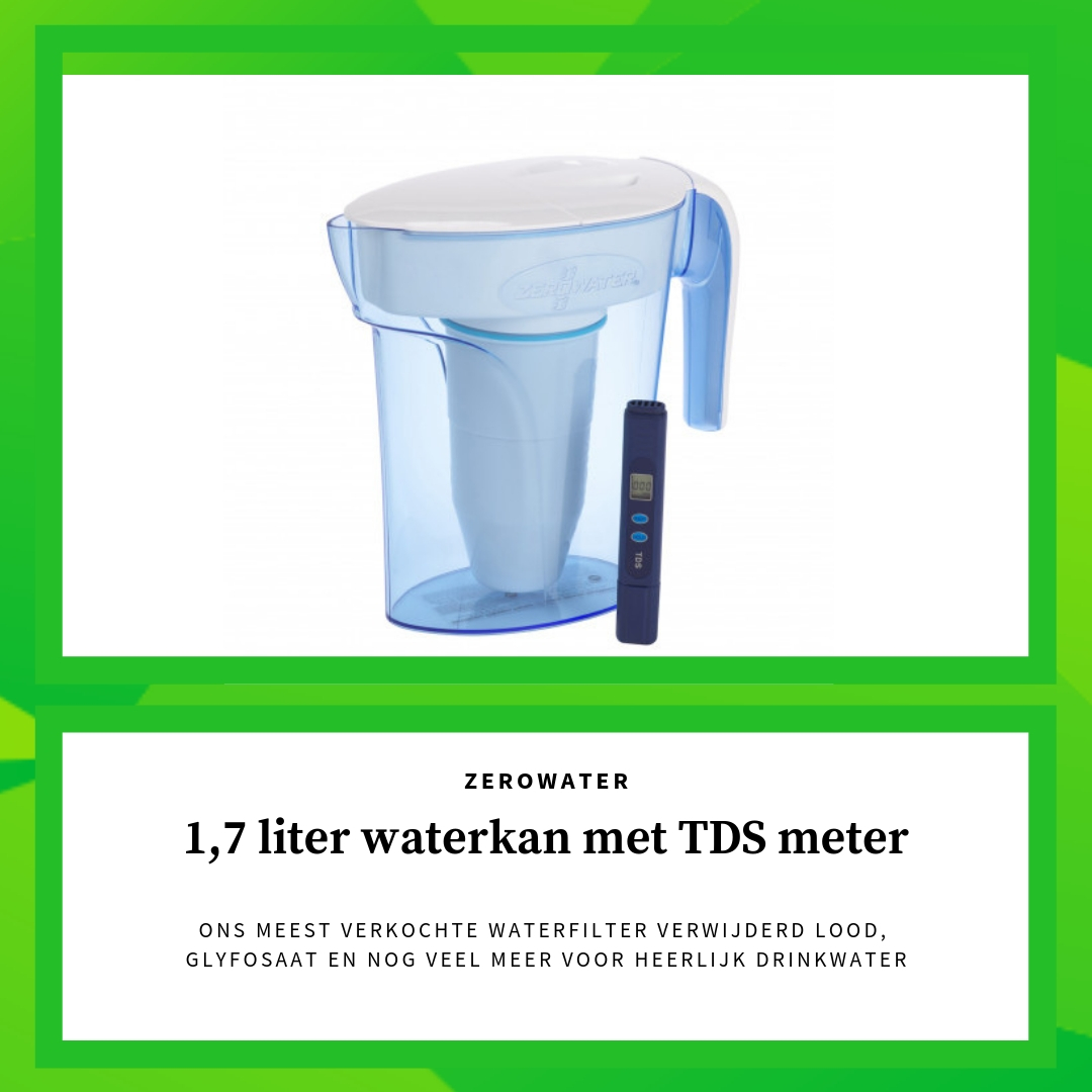 1,7 liter waterkan zerowater